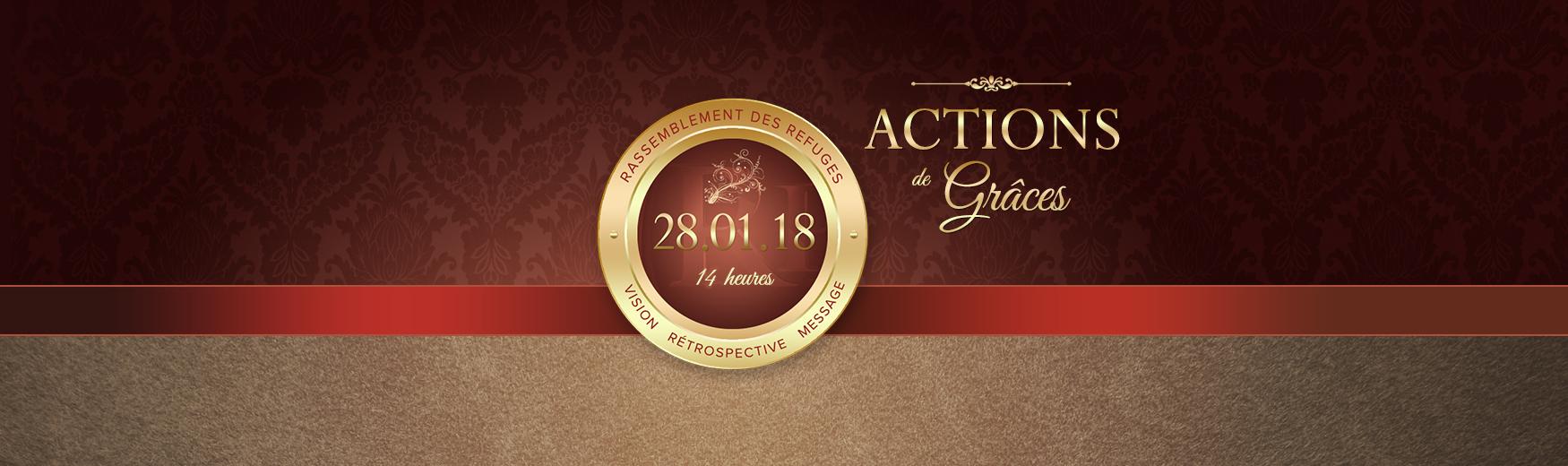 Culte spécial Actions de Grâce
