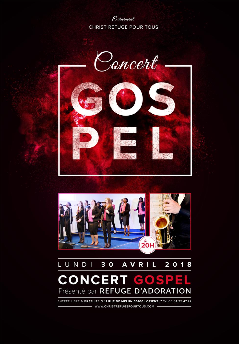 Concert Gospel à Lorient le 30 avril à 20h