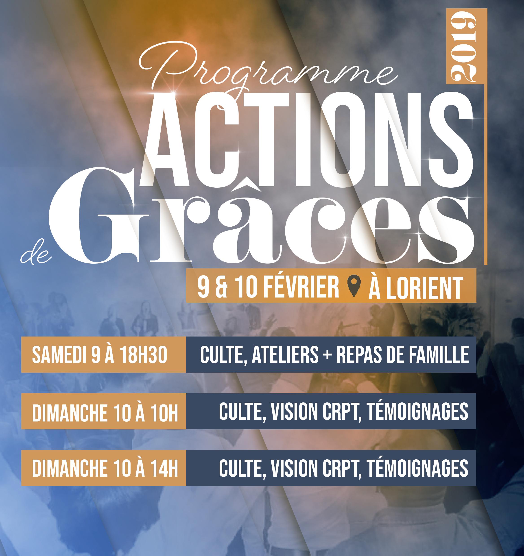 Programme weekend actions de grâce !